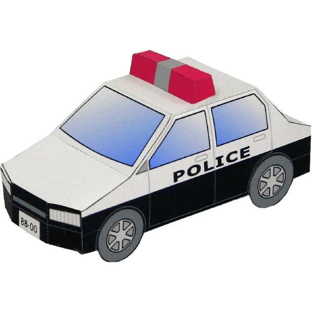 MAQUETA RECORTABLE 3D EN PAPEL DE COCHE DE POLICIA