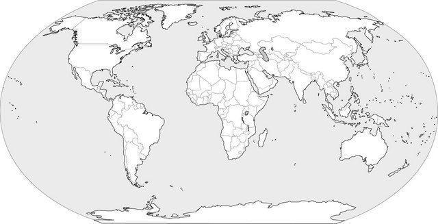 mapa del mundo en blanco