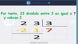 Dividir entre números de 1 cifra
