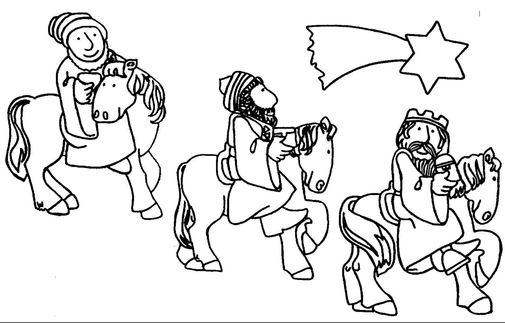 Reyes Magos Y Pajes Para Imprimir Y Colorear